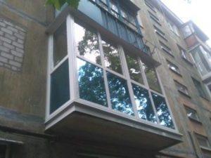 Французский балкон с тонировкой в Киеве